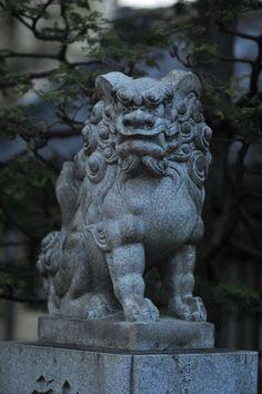 Guardian lion, Matsuchiyama Shoden temple Japanese Foo Dog, Japanese Art, Lion Dog, Land Art, Statues, Chinese Art, Sculpture Art, Garden Sculpture, Gothic Gargoyles