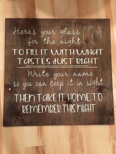 If you are planning on using mason jars as a wedding favor then this is the sign for you. Measures 20x20 and can be customized to match your wedding color scheme just leave your specifications in the
