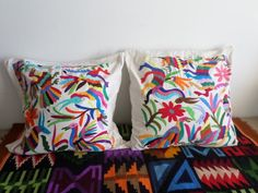 Sweet Otomi Multicolor pillow sham - Price per each one - Different sizes Each One, Pillow Shams, Decorative Pillows, Rooster, Wedding Gifts, Presents, Bride, Sweet, Etsy