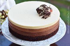 Nici nu puteam sarabatori ziua de maine fara un tort delicios. Mousse, Hungarian Desserts, My Best Recipe, Sweet Tarts, Girl Cakes, Food Cakes, Something Sweet, Cake Recipes, Bakery