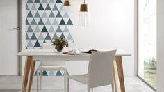 Tendencias: Decorar las paredes con triángulos