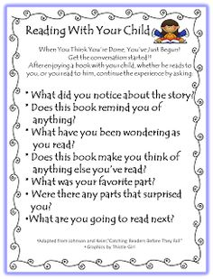 Letter for parents to help with reading at home.