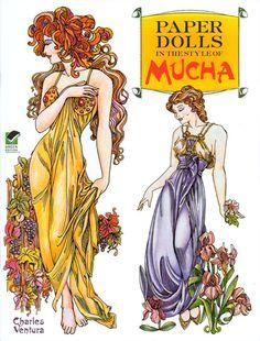 victorian Steampunk Girl art   Mucha Paper Dolls [Beautiful Art Nouveau Designs] : Paper Dolls from ...