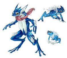 Realistic Pokemon: Froakie Evolution Line by ReneCampbellArt.deviantart.com on @deviantART