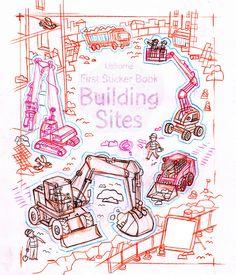First #sticker #Book #Building sites. ©stefanotognetti ©UsborneBooks