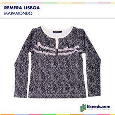 Remera Lisboa de Mapamondo posee botones y detalle de brodery. Para conocer talles, colores y comprar ¡Hacé click en la imagen!