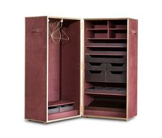VENDOME from Baxter at Interni: Frame in birch strips with leather covering. Brass piping and hinges. Inner ...