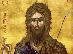 Byzantine Icons, John The Baptist, Christian Faith, Christianity, Lion Sculpture, Spirituality, Painting, Fictional Characters, Icons
