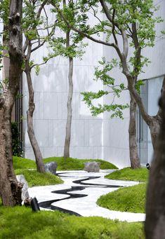 Landscape And Urbanism, Urban Landscape, Landscape Design, Modern Japanese Garden, Japanese Garden Landscape, Modern Landscaping, Outdoor Landscaping, Zen Garden Design, Interior Garden