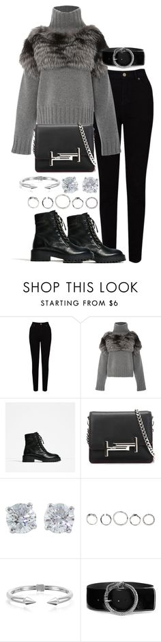 """Untitled #3150"" by theeuropeancloset ❤ liked on Polyvore featuring EAST, Sally Lapointe, Tod's, Tiffany & Co., Vita Fede and Yves Saint Laurent"