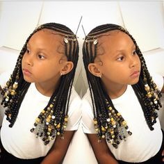 we have a big collection of braided hairstyles of kids. This post is totally about braided hairstyles for the African child. Dear parents don't be afraid we have the best collection of braided styles Little Girl Braids, Black Girl Braids, Braids For Kids, Braids For Black Hair, Kid Braids, Toddler Braids, Tree Braids, Children Braids, Kids Braids With Beads