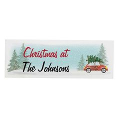 Personalised Wooden Shelf Ornament - Driving Home For Christmas Wooden Mantel, Wooden Shelves, Driving Home For Christmas, Character Words, Secret Santa Gifts, Winter Colors, Wooden Blocks, Christmas Themes, Gifts For Family