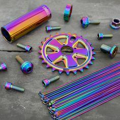 Use code RAINBOW for 10% OFF your order at www.tlcbikes.com 😍 Worldwide shipping available! #bmx #tlcbikes #bmxbike #bmxparts #bikeparts #bmxlife #bikelife #oilslickbmx #rainbowbmx Mtb Parts, Bike Parts, Galaxia Hd, Vintage Bmx Bikes, Montain Bike, Gaming Wall Art, Bmw S1000rr, Bmx Bicycle, Bike Life
