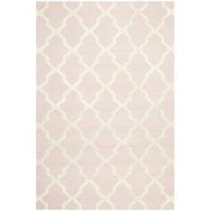 Handmade Cambridge Moroccan Light Pink Wool Rug | Overstock.com 5x8 $204