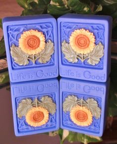 decorative soap | Sunflower Life Is Good Decorative Soaps by ... | Soap Recipes