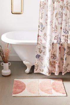 Bathroom Rug Sets, Boho Bathroom, Bathroom Shower Curtains, Blush Bathroom, Bathroom Ideas, Master Bathroom, Bathroom Inspo, Washroom, Bathroom Inspiration