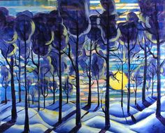 Solitude by Rollin Kocsis (evokes the snowy woods of Narnia)