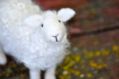 Needle Felted Wool Sheep Sculpture by BearCreekDesign on Etsy, $70.00