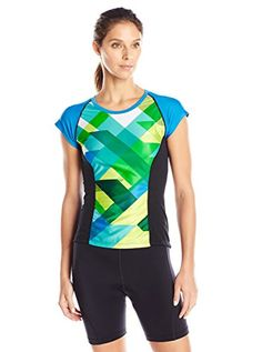 Women's Cycling Jerseys - Moxie Cycling Womens Cadence Color Block Tee Jersey * Details can be found by clicking on the image.
