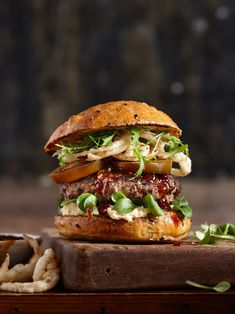 """Photography by Sydney food photographer Sydney food photographer Omid Recipe and styling by Sydney food stylist Jane Collins This burger was unbelievable- originally I just made it to """"look """" good…"""