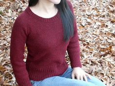 Brick is a simple, basic pullover top-down very customizable FREE perfect as your everyday sweater.