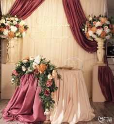 Top 20 Luxury Sweetheart Table Decor Ideas- Top 20 Luxury Sweetheart Table Decor Ideas luxury burgundy and blush fall indoor wedding sweetheart… - Purple Wedding Centerpieces, Purple Wedding Bouquets, Wedding Table Flowers, Rustic Wedding Dresses, Best Wedding Dresses, Wedding Reception Decorations, Wedding Rustic, Wedding Country, Burgundy Wedding