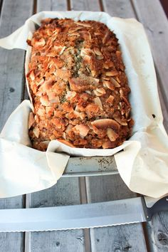 Banana Coconut Bread with Rum
