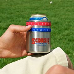 Scorzie is the original scorekeeping beverage holder, ideal for games up to 21 points, and perfect for bbq's, tailgaiting and any outdoor game. Featuring two scoring rings that click into place and a foam lined cooler , the Scorzie is a scoreboard and beverage holder all in one! Now you can keep score of cornhole, baggo, bocce, washers, laderball, kickball, kan jam, flimsee, polish horseshoes, horseshoes and your favorite drink cold. $14.95