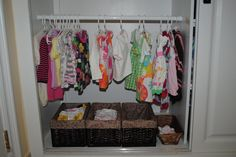 smart idea for when K is a bit older and won't tear all her clothes off the hangars!