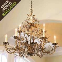 I just bought this chandelier for my kitchen makeover.  Cannot even wait!!!