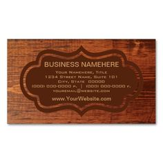 Wood Grain Business Cards. Make your own business card with this great design. All you need is to add your info to this template. Click the image to try it out!