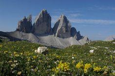 Drei Zinnen, Dolomiten, Südtriol, Italien. Link zur Tour: http://www.outdooractive.com/de/bergtour/dolomiti-d-ampezzo-dolomiti-bellunesi/rund-um-die-drei-zinnen/1537388/#axzz2AO4r0JtT