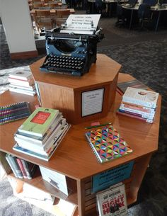 National Novel Writing Month - interactive display where patrons are given a written or visual prompt and invited to add to the story.