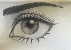 By GoldFinch :3  Pencil eye drawing