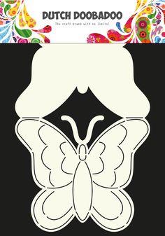 470.713.607 Dutch Doobadoo Card Art Butterfly