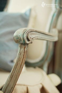 DIY --Great patine & upholstery tutorial from Miss Mustard Seed