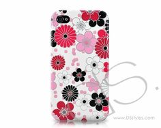 Flourish Series iPhone 4 and 4S Case - Red  #iphone4s  http://www.dsstyles.com/fb/i4hyd0008_003.htm