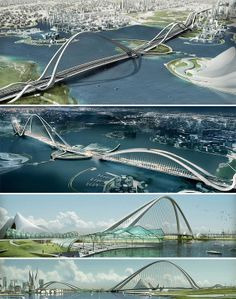 Arch Bridge, Dubai. (The Most Amazing Bridges in the World)