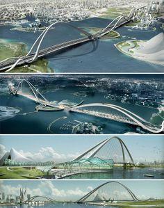 Arch Bridge, Dubai. (The Most Amazing Bridges in the World)
