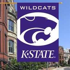 "Kansas State Wildcats 28"" x 40"" Two-Sided Banner Flag"