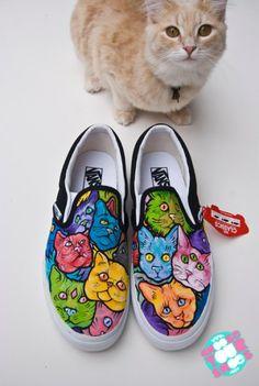 47a3a3a9fb3df1 cat shoes Trippy vans shoes ideas for adventures in sharpie tie dye