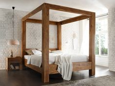 Four Poster Bed Strong Four Poster Bed Stark Wooden Bed 180 200 Rosewood With Teak Finish 1149 Bed Beddes In 2020 King Bed Frame Furniture King Size Canopy Bed
