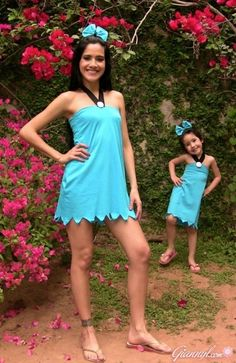 Betty Rubble Halloween Costume DIY from a t-shirt.