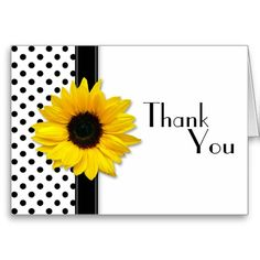 Although this sunflower flower and polka dots floral thank you card is currently customized for a wedding, it could also be used for other special occasions. Really it's up to you. All you need to do is change the text.