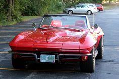 Beautiful classic Corvette in red. #Classic #Convertible #Chevrolet #SportsCar
