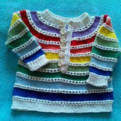 Duhový svetřík s poutkovým zapínáním Sweaters, Fashion, Tejidos, Breien, Moda, Fashion Styles, Sweater, Fashion Illustrations, Sweatshirts