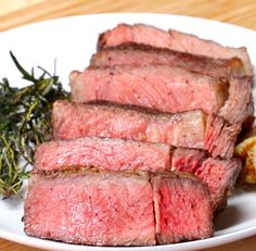 Servings: 2INGREDIENTS1 1½-pound rib eye steak, 1-inch thick 2 tablespoons kosher salt2 tablespoons black pepper4 tablespoons canola oil3 tablespoons butter2 sprigs thyme2 bunches rosemary2 cloves garlic, peeled and crushedPREPARATION1. Preheat oven to 250°F/120˚C.2. Season the steak evenly with the salt and pepper on all sides.3. Place the steak on a wire rack on top of a baking sheet. Bake for 35 minutes. 4. Heat the canola oil in a skillet or stainless steel pan over high heat until…