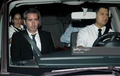 Raphael's son Jacobo Martos (2L) and daughter Alejandra Martos (L) leave Royal Theatre after Raphael's concert on July 22, 2015 in Madrid, Spain.