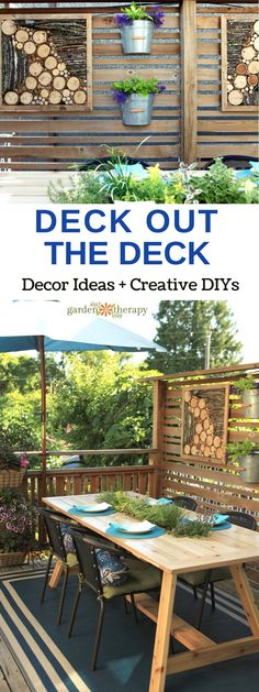 Deck Out Your Deck with these ideas - Forego replacing the expensive structure by sprucing up space with personal touches and crafty decor. With a few well-placed accouterments, you can bring your personality outside for some fresh air.
