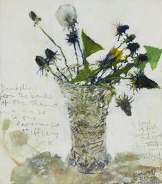 Dandelions from the banks of the Thames. May 2013 in KURT JACKSON from The Redfern Gallery